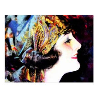 Cartão Postal Martha Mansfield, uma legenda do filme silencioso