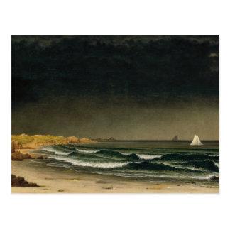 Cartão Postal Martin Johnson Heade - tempestade de aproximação