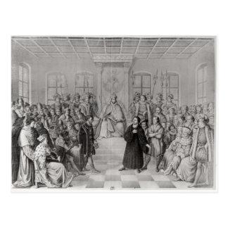 Cartão Postal Martin Luther na frente de Charles V