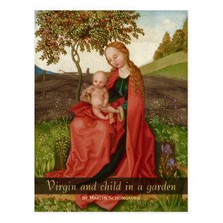 Cartão Postal Martin Schongauer a virgem e a criança em um