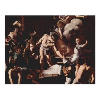 Cartão Postal Martírio de Caravaggio- de St Matthew