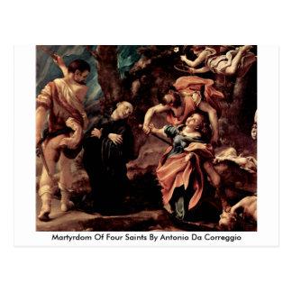 Cartão Postal Martírio de quatro santos por Antonio a Dinamarca