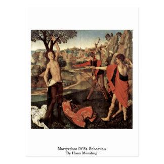 Cartão Postal Martírio de St. Sebastian por Hans Memling