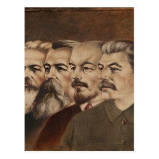 Cartão Postal Marx, Engels, Lenin, e Stalin