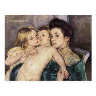Cartão Postal Mary Cassatt a carícia