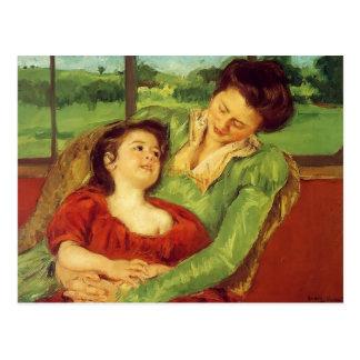 Cartão Postal Mary Cassatt- Reine Lefebre & Margot antes da