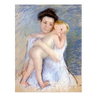 Cartão Postal Mary Cassatt: Ternura materna