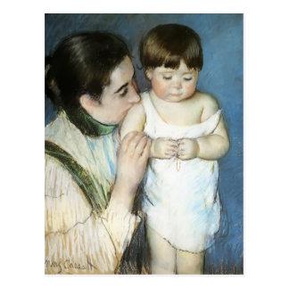 Cartão Postal Mary Cassatt- Thomas novo e sua mãe