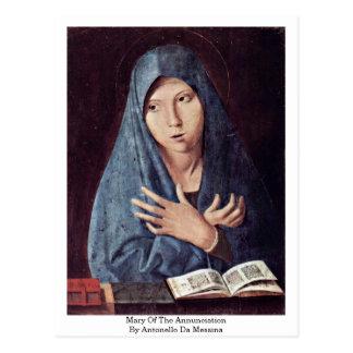 Cartão Postal Mary do aviso por Antonello a Dinamarca Messina