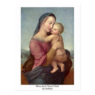 Cartão Postal Mary e criança do cristo por Raffael