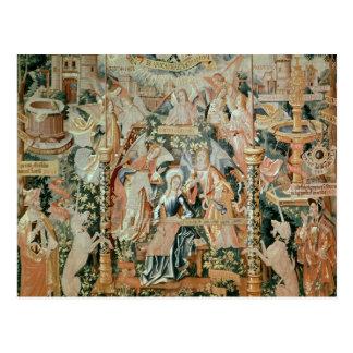 Cartão Postal Mary no templo, cenas da vida do
