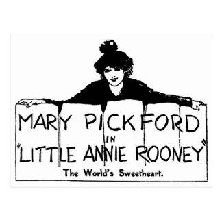 Cartão Postal Mary Pickford Annie pequena Rooney