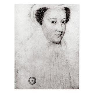Cartão Postal Mary, rainha de escocês na lamentação branca, 1560