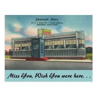 Cartão Postal Maryland, comensal do trevo