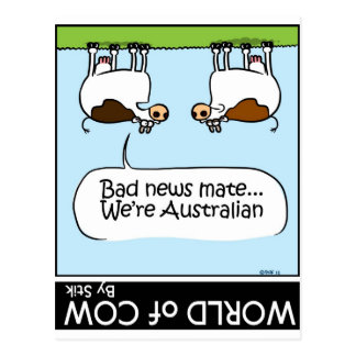 Cartão Postal Más notícias… nós somos Austrailian!