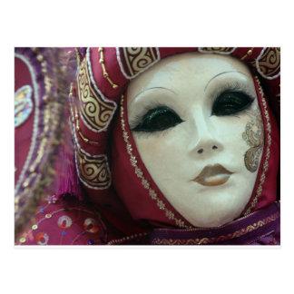 Cartão Postal máscara bonita de Veneza