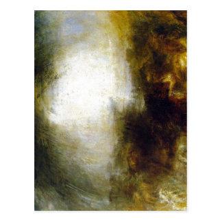 Cartão Postal Máscara da descrição sumária e escuridão - o Eveni