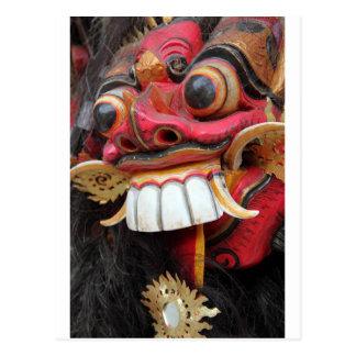 Cartão Postal Máscara de Bali Barong