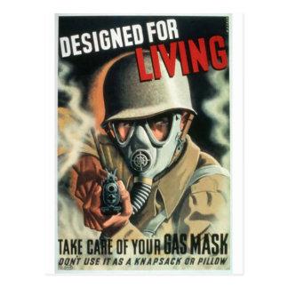 Cartão Postal Máscara de gás
