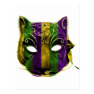 Cartão Postal Máscara do carnaval da mulher-gato