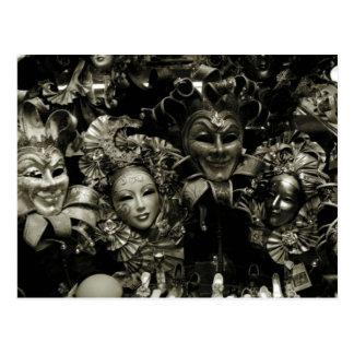 Cartão Postal Máscara do carnaval de Veneza do carnaval