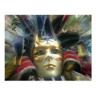 Cartão Postal Máscara do mascarada das cores