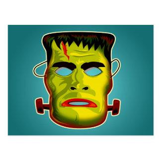 Cartão Postal Máscara do monstro de Frankenstein