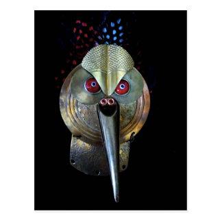 Cartão Postal Máscara do pássaro