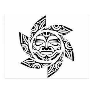 Cartão Postal Máscara maori