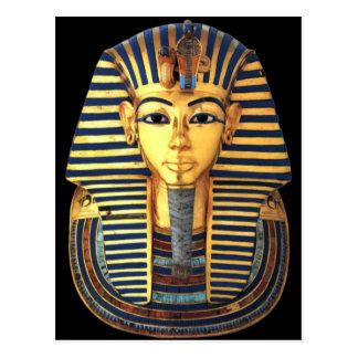 Cartão Postal Máscara pura do enterro do ouro do faraó