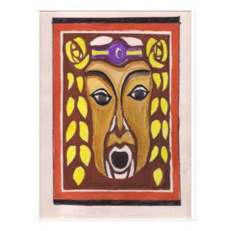 Cartão Postal Máscara tribal