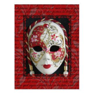 Cartão Postal Máscara Venetian