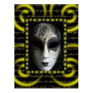 Cartão Postal Máscara Venetian 3