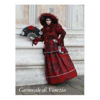 Cartão Postal Mascarada do carnaval de Veneza