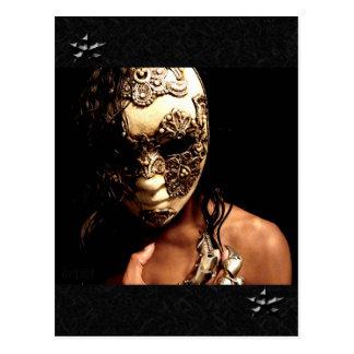 Cartão Postal Mascarado