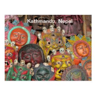 Cartão Postal Máscaras em Boudhanath