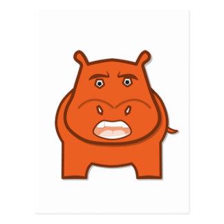 Cartão Postal Mascote Expressively brincalhão do bondswell de