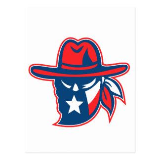 Cartão Postal Mascote foragido da bandeira de Texas do Texan