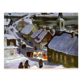 Cartão Postal Massa da meia-noite, pintura das belas artes