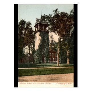 Cartão Postal Massa de Stockbridge da torre da missão. Vintage
