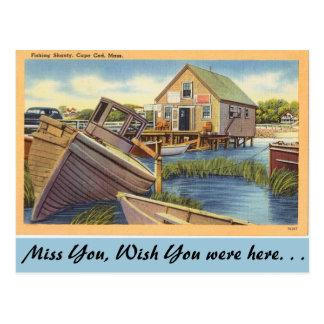 Cartão Postal Massachusetts, pescando o degradado, Cape Cod