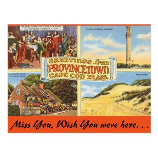 Cartão Postal Massachusetts Provincetown, Cape Cod