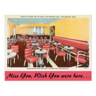 Cartão Postal Massachusetts, sala de estar de cocktail, New