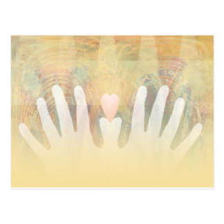 Cartão Postal Massagem cura das mãos