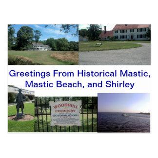 Cartão Postal Mástique, praia da mástique, e Shirley históricos