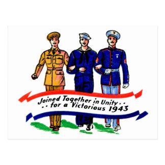 Cartão Postal Matchbook militar dos fuzileiros navais WW2 do
