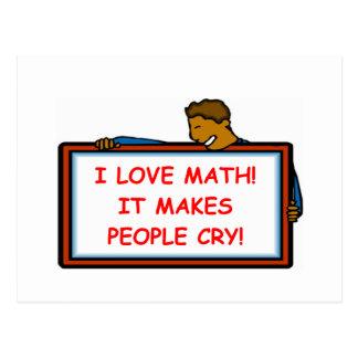 Cartão Postal matemática