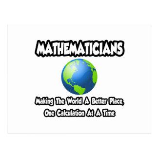 Cartão Postal Matemáticos… que fazem ao mundo um lugar melhor