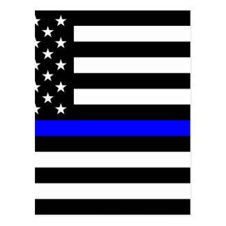 Cartão Postal Matéria azul das vidas - a polícia da bandeira dos