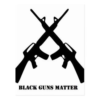 Cartão Postal Matéria preta das armas